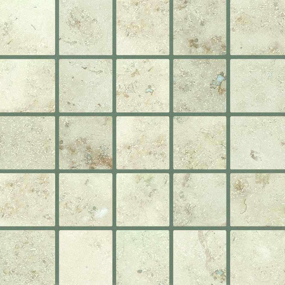Jura Blanco Amonite mosaic 30cm x 30cm